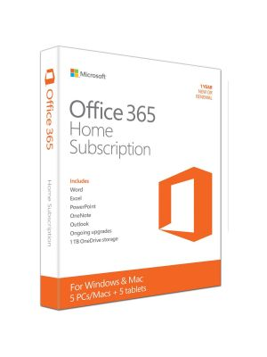 Microsoft Office 365 Home 1 Year Subscription (Medialess)