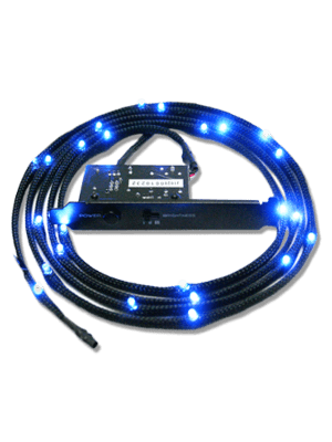 NZXT Sleeved LED Cable 100cm Blue