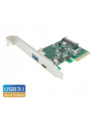 Simplecom EC312 PCI-E 2 Port SuperSpeed+ USB 3.1 Gen II 10Gpbs Type-C and Type-A Host Expansion Card