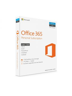 Microsoft Office 365 Personal 1 Year Subscription (Medialess)