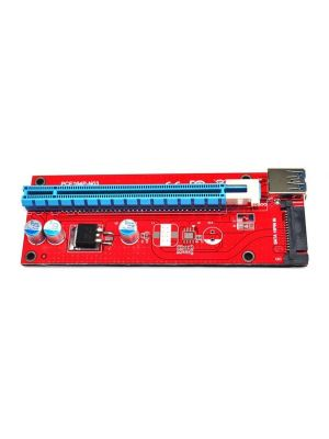 PCI-Express PCI-E 16X to 1x Extender Riser Board USB 3.0 SATA 15P Power Socket Adapter