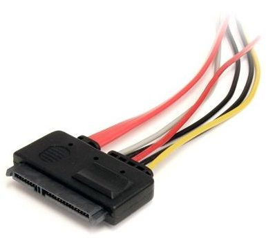 StarTech 12in 22 Pin SATA Power and Data Extension Cable SATA22PEXT