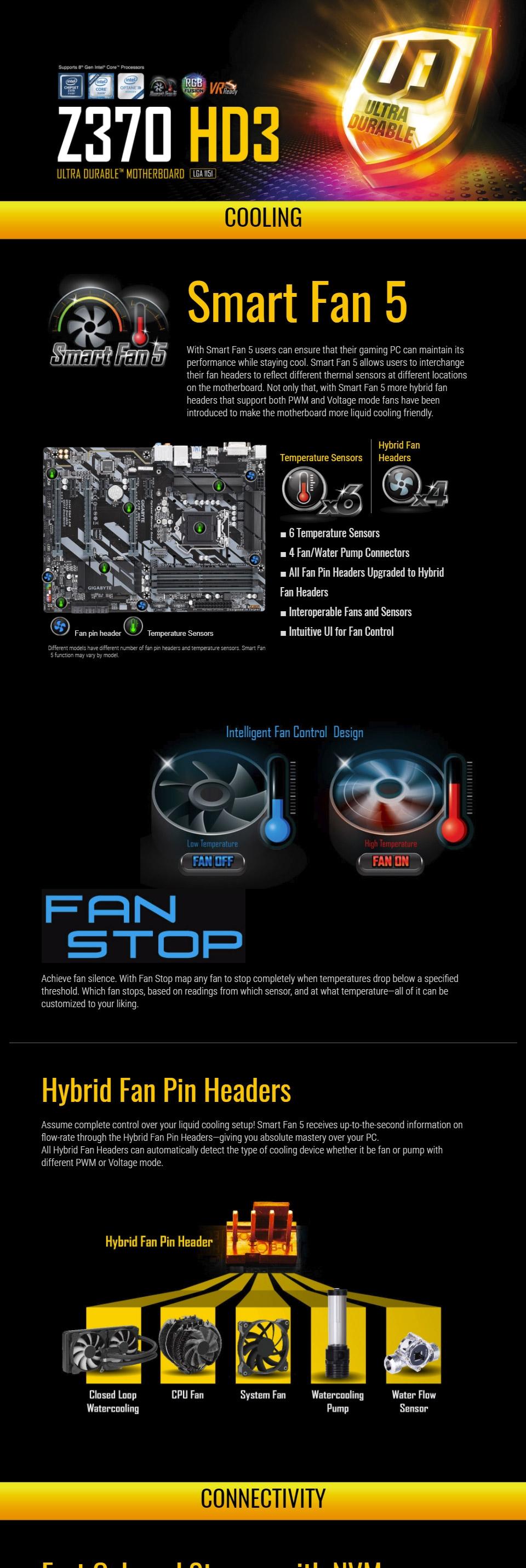 Gigabyte Z370 HD3 Motherboard