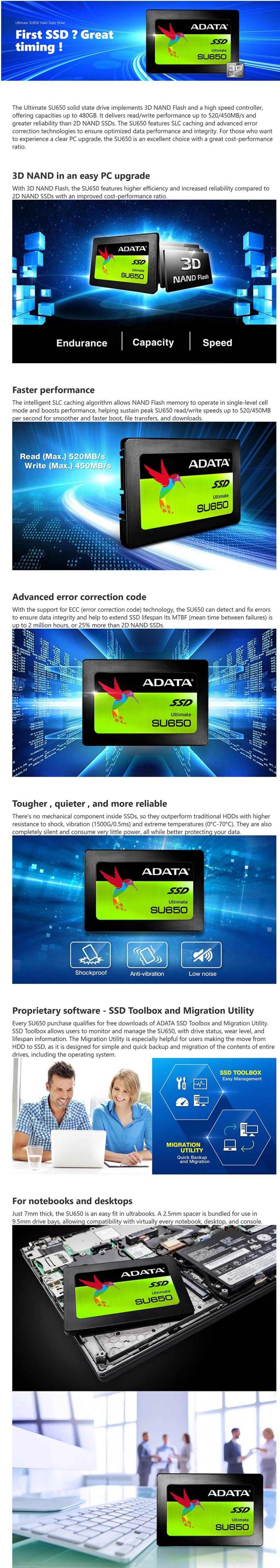 ADATA Ultimate SU650 120GB 2 5